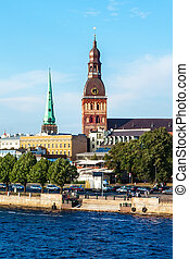 Panorama of Riga old city