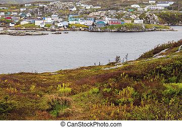 Panorama of Rose Blanche, Newfoundland. St. John's, Newfoundland and Labrador, Canada.