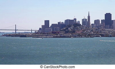 Panorama of San Francisco - Aerial cityscape panorama of San...