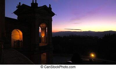 panorama of San Luca Evening