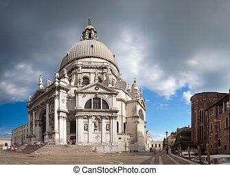 Panorama of Santa Maria della Salute church in Venice