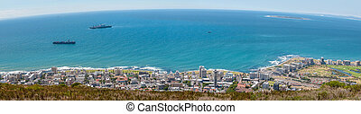 Panorama of Sea Point and Robben Island as seen from Signal...