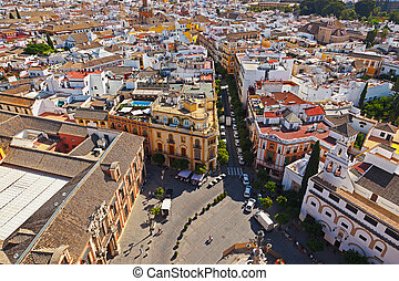 Sevilla Spain - Panorama of Sevilla Spain - view from ...