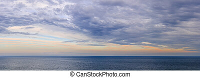 Panorama of sky over water