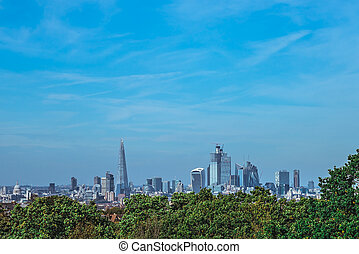 Panorama of skyscrapers in City of London