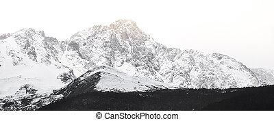 Panorama of Snow Mountain Range