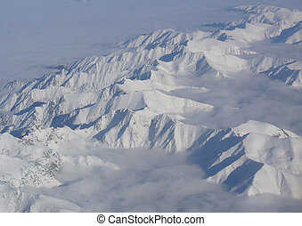 snow mountain - Panorama of snow mountain