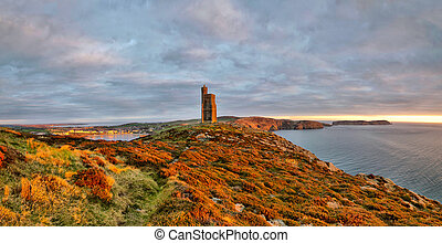 Panorama of South of the Isle of Man with Milner Tower