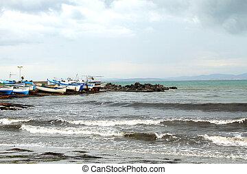 Panorama of Sozopol Yacht club