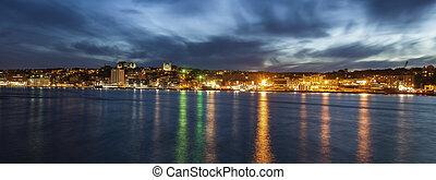 Panorama of St. John's at night