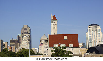 Panorama of St. Louis - Panorama of downtown of St. Louis, ...