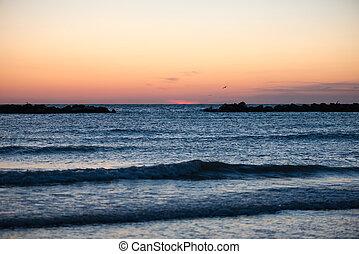 Panorama of sunrise Sea