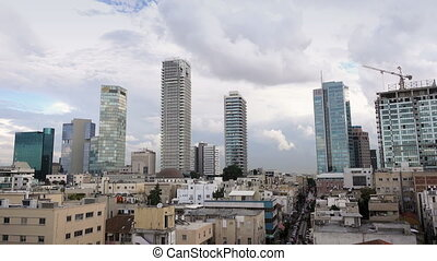 Tel Aviv, Israel - Panorama of Tel Aviv, Israel, Middle East...