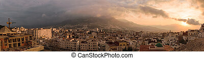 Panorama of Tetouan, Morocco
