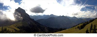 Panorama of the Allgaeu Alps