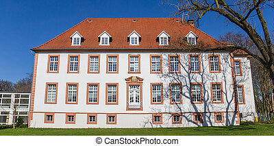 Panorama of the Amt Reckenberg building in Wiedenbruck, Germany