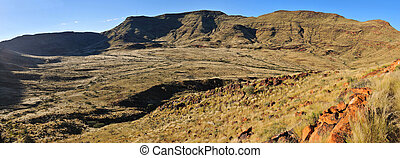 Panorama of the Brukkaros extinct volcana, Namibia