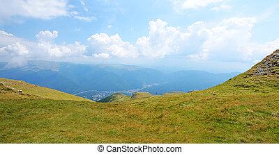Carpathian mountains in Transylvania, Romania