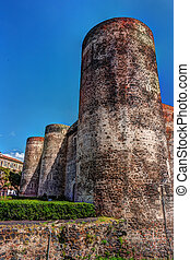 Panorama of the Castello Ursino, also known as Castello...