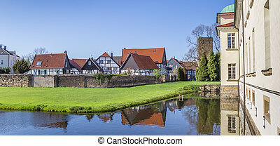 Panorama of the castle and Old Village in Westerholt