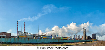 Panorama of the chemical factory