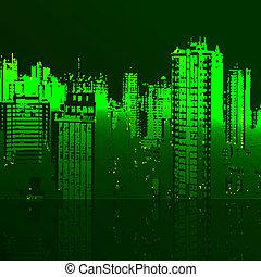 Panorama of the city cartoon illust