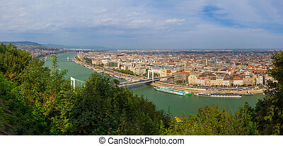 Panorama of the city of Budapest, Hungary