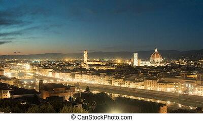 FLORENCE in Italy with the dome and Palazzo della Signoria...