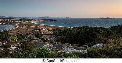 Panorama of the Coast at Sunset