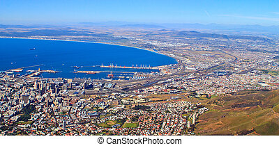 panorama of the coast of Cape Town