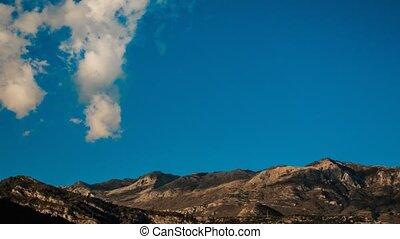 Panorama of the coastline of Budva Riviera from the mountain...