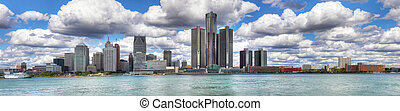 Panorama of the Detroit Skyline