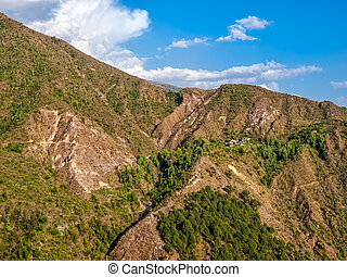 Panorama of the Dharamsala hills