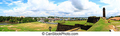 Panorama of the Dutch Fort in Galle