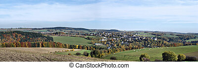 Panorama of the Erzgebirge, Germany