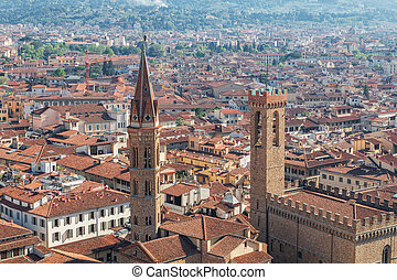 Panorama of the Florence city