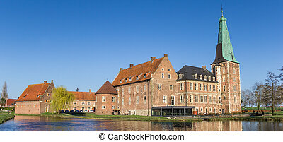 Panorama of the historic castle in Raesfeld