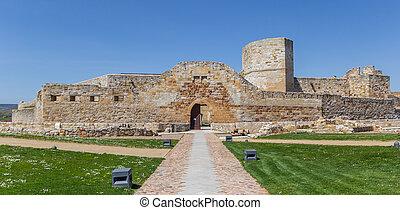 Panorama of the historic castle in Zamora