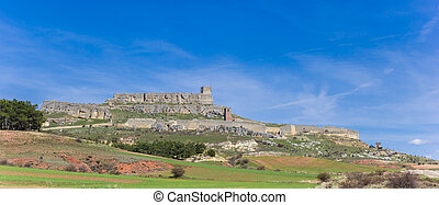 Panorama of the historic hilltop castle in Atienza
