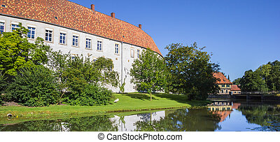 Panorama of the historical castle in Steinfurt