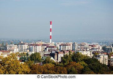 Panorama of the Industrial Part of the City of Belgrade
