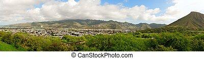 Panorama of the Island of Oahu