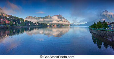 Panorama of the lake Lecco