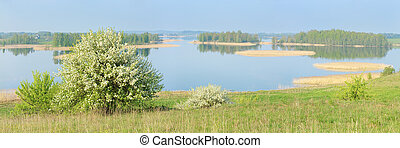Panorama of the lake.