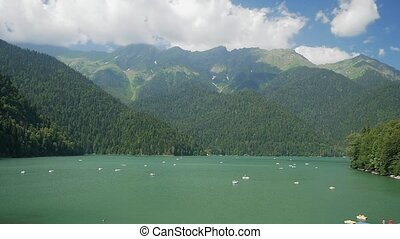 panorama of the lake ritsa, Abkhazia, southern Caucasus