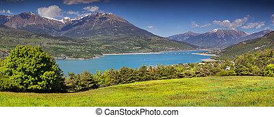 Panorama of the Lake Serre-Poncon