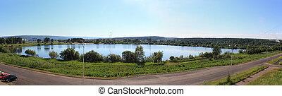 Panorama of the lake. Zelenogorsk