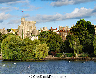 Windsor castle - Panorama of the mighty Windsor castle, the...