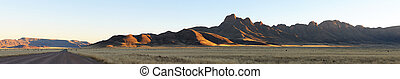Panorama of the Namibrand area in Namibia