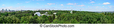 Panorama of the National Botanical Garden in Kyiv